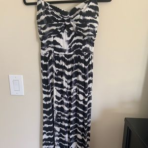 Guess twist bodice detail maxi dress with peephole